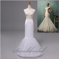 Wholesale Cheap Mermaid Trumpet Wedding Dress Petticoat Crinoline Bridal Hoop Slip Underskirt Evening Prom Gowns Top Quality