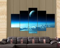 Wholesale Dream Blue Starry Sky Wall Art Picture Home Decoration Living Room Canvas Print Painting Wall picture printing on canvas F