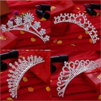 unique hair accessories - Flower Fashion Bridal Crown Tiaras Shining Rhinestone Trendy Hair Accessories Unique Bridal Accessories for YZT