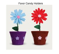 Cheap Birthday Favor Boxes Candy Bags Flower Pot 50 pcs Creative Party Favor Holders Gift Sweet Chocolate Bag