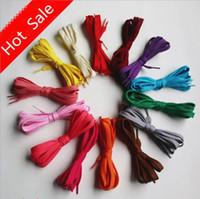 Wholesale Multi Color Shoelaces Running Athletic Safety Lock Shoe Laces Casual Sports Shoe Laces New Shoe Parts pair