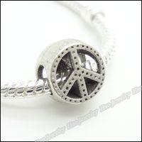 Wholesale Vintage silver zinc alloy big hole Beads charms European bracelet DIY beads jewelry accessories