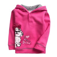 add t shirts - Toddler T shirt New Spring Add Wool Set Head T shirt Cartoon Long Sleeve Hooded Pure Cotton Girl T shirt Color G33