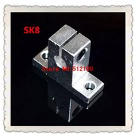 Wholesale SK8 bearing linear Shaft Support match use linear motion round rod axis XYZ Table CNC Router SH8A