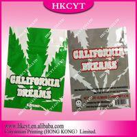 herbal incense - Custom printed aluminum foil resealable zipper bag california dreams herbal incense bag