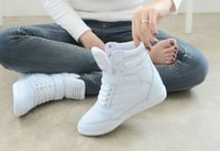 Wholesale Sneakers Lace Up Athletic Womens Velcro High Top Wedge Heel Casual Shoes Boots