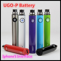 apples atomizer - Apple Button Evod Passthrough UGO P Battery E Cig V Variable Voltage Battery Bottom Charge fit ego Thread Vaporizer atomizer