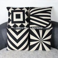 Wholesale 4 new high quality European style geometric pattern Pillowcase pillowcases sofa office supplies household items