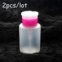 acetone dispenser pump - 2pcs Empty Pump Dispenser Liquid UV Gel Polish Nail Art Polish Remover Cleaner Acetone Bottle Polish Remover Bottle
