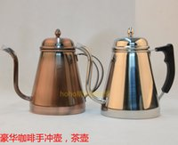 Wholesale Japanese hand coffee fine narrow mouth pot Household hand rushed stainless steel drip brewed pot L