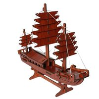 Wholesale Sailboat Series D Wooden Warship Boat Ship Jigsaw Puzzle Game Toys for Children Color option