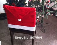 Wholesale 2014 Hot sale High quality non woven Christmas chair covers fabric christmas decoration S47