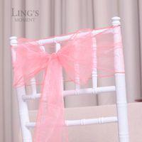 Wholesale pieces cm wide x cm Coral Organza Chair Sash Bows Ties Colors Upick