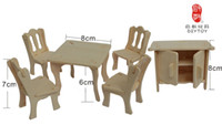wooden chair - The popular birthday gift Desks and chairs cabinet wooden Jigsaw puzzle D DIY child educational Intelligence toys Simulation model puzzle