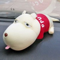 air freshener dolls - 2014 New Auto Car Accessories Doll Decoration Cute Cartoon Big Mouth Dog Decorate Bamboo Charcoal Air Freshener PHM026 M20190