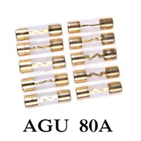 Wholesale In Stock AMP A Car AGU Glass Tube Fuse Gold Plated For Car Audio