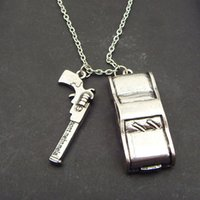 Wholesale 2014 Newest Antique Vintage Metal Silver Supernatural Dean Winchester Car With License Plate Necklace High Quality