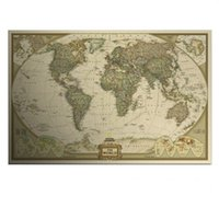 antique maps - Large Vintage World Map Home Decoration Detailed Antique Poster Wall Chart Retro Paper Matte Kraft Paper inch Map Of World