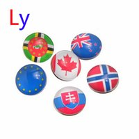 african bead patterns - New fashion Snap Button Fit DIY Bracelet the mixed color Flag Pattern Round mm chunk jewelry AC061