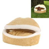Wholesale HOOPET W0017G Lint Detachable Windproof Hamburger Shape Pet Dog Cat House Size S LIF_930