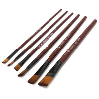 Wholesale 2015 Different Shape Nylon Hair Paint Brush Set Wooden Handle Gouache Watercolor Oil Painting Brush Set Acrylics Art set