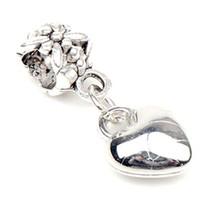 alloy bracelet - New Antique Silver Loving Heart Big Hole Beads Fit European Pandora Charm Bracelet
