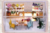 Wholesale Diy Wooden Dream Kitchen Doll House With LED Lamps And Dustproof Cover New Wooden Dollhouse Toy For Child