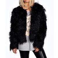 Wholesale HOT Discount Women Faux Fur Coat Winter Long Sleeve Short Fur Coats Luxury Fur Coat Plus Size Slim Fur Coats B22 CB031519