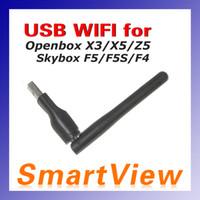 al por mayor wifi inalámbrico del openbox-Mini tarjeta de red sin hilos del USB WiFi del 150M con el adaptador del LAN de la antena para Openbox X3 X4 X5 Skybox M3 F4 F5 envío libre
