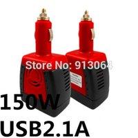 dc ac converter 12v 110v - 150W dc v to ac v cigarette lighter inverter power converter Hot selling USB A car power inverter