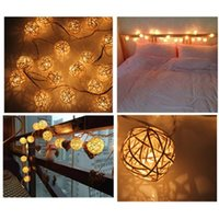 Wholesale New10 LED Lights Warm White Rattan Ball LED String Fit for Home Decoration Christmas Wedding Birthday Holiday P