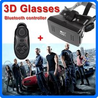 Wholesale Hot Sale RITECH II VR BOX Mobile Phone D Glasses Virtual Reality Magnet Google Cardboard Bluetooth Controller