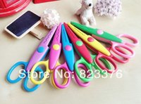 Wholesale DHL new cute Handmade DIY album lace art scissors Card pattern cartoon Gift scissors styles mix color