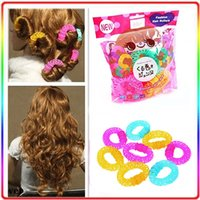 Cheap Lucky Donuts Curly Hair Curls Roller Hair Styling Tools Hair Accessories Curler For Women