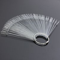 Wholesale Hotting Nail Art Tips False Nails Board Fan Shape Display Set Tool Polish Gel Practice Clear Transparent Decoration