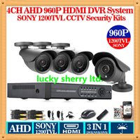 Cheap CIA-HD 4ch CCTV system Sony 1200TVL video surveillance AHD DVR kit 1080P FULL 960p video recorder 4*1200TVL Outdoor security camera