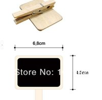 Wholesale Cute Mini Wooden Blackboard Chalkboards Paper Clips
