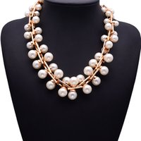aura clothing - New pearl jewelry chain Korean queen aura clavicle short necklace female clothing accessories