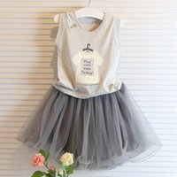 Wholesale Summer Kids Children Shirts Solid Cotton Short Sleeves Girl Shirts and Skirt Tall for Kids Clothes and Accessories