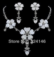 anniversary flowers pictures - Cheap Jewelry New design Real picture White flower bridal jewelry sets hotsale noble jewelry wedding accessory