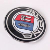 alpina parts - 82mm Car Logo Emblem Badge for Alpina with Pins Part No M3564