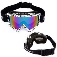 Wholesale WOLFBIKE Ski Goggles Brand Outdoor Sports Snowboarding Skate UV400 Protection Goggles Men Women Snow Skiing Sun Glasses CS Cycling Eyewear