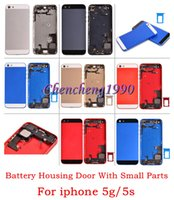 For Apple iPhone apple powered speaker - For iphone g s Colorful Metal Back Battery Door Housing Cover Case with USB Charging Port Flex Power Flex Cable Speaker small parts
