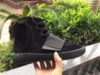 Wholesale boost Black Running shoes snakers Kanye West boost size eur