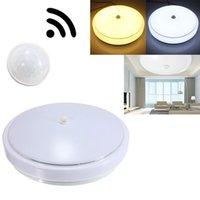 Wholesale 12W PIR Infrared Motion Sensor Flush Mounted LED Ceiling Light AC110 V LEG_400