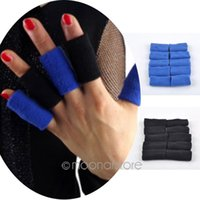 Wholesale 10pcs Volleyball Finger Protection Finger Guard Sleeve Protector Sports Safety Fingerstall Accessories Y50 HM423 M5