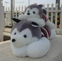 baby sleds - Promotion Style cm Cartoon Animals Toys Sweater Sled Lies Prone Dog Plush Dolls Hobbies Stuffed Baby Birthday Gift TY490