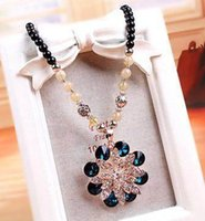 beaded sweaters - New Fashion Necklaces Various Styles Personality Long Sweater Chains Cat s eye Stone Cross Mouth Pendant Necklaces SN417
