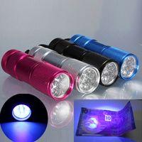 Cheap 2015 Gift 9 LED UV Ultra Violet Blacklight AAA Flashlight Torch Light - Black