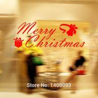 art gifts shops - Latest Fashion New Christmas Gift Wall Sticker Three Colors Xmas Window Decorations Shop Window Christmas Decals Home Decor